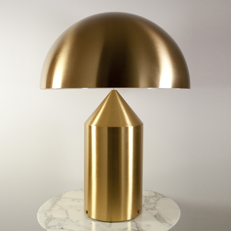 Charming Oluce Atollo 233 Gold Table Lamp ...