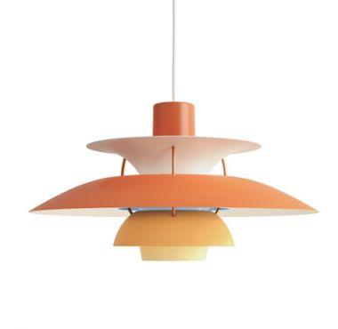 Orange Ph5 Louis Poulsen Pendant Light