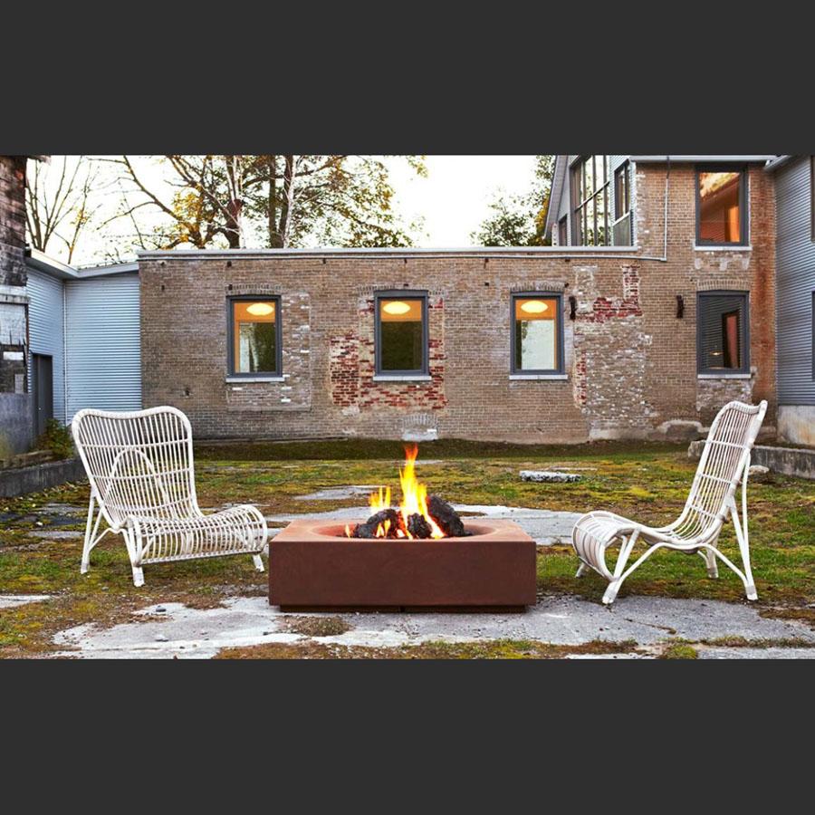Paloform Caldera Modern Wood Burning Firepit in Corten Steel - Caldera Cor-Ten™ Steel Modern Outdoor Firepit Paloform