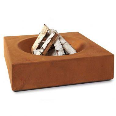 Paloform Caldera Modern Wood Burning Firepit In Corten Steel