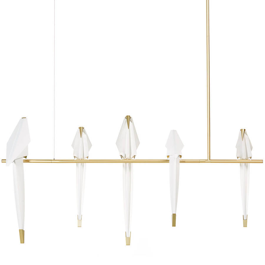 39 4 Quot Perch Light Branch W 5 Birds By Umut Yamac For Moooi