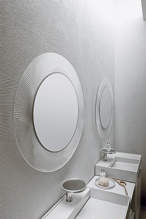 Kartell all saints modern round wall mirror stardust for Miroir kartell