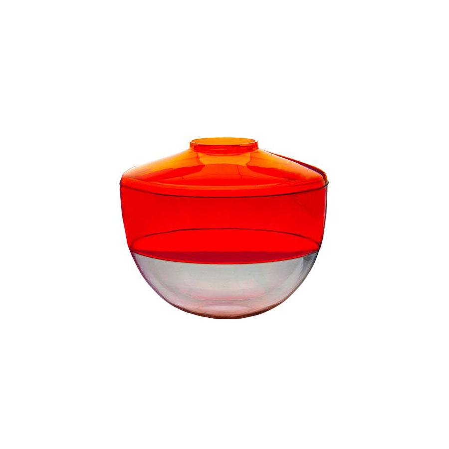 kartell shibuya vase by christophe pillet in orange red grey stardust. Black Bedroom Furniture Sets. Home Design Ideas
