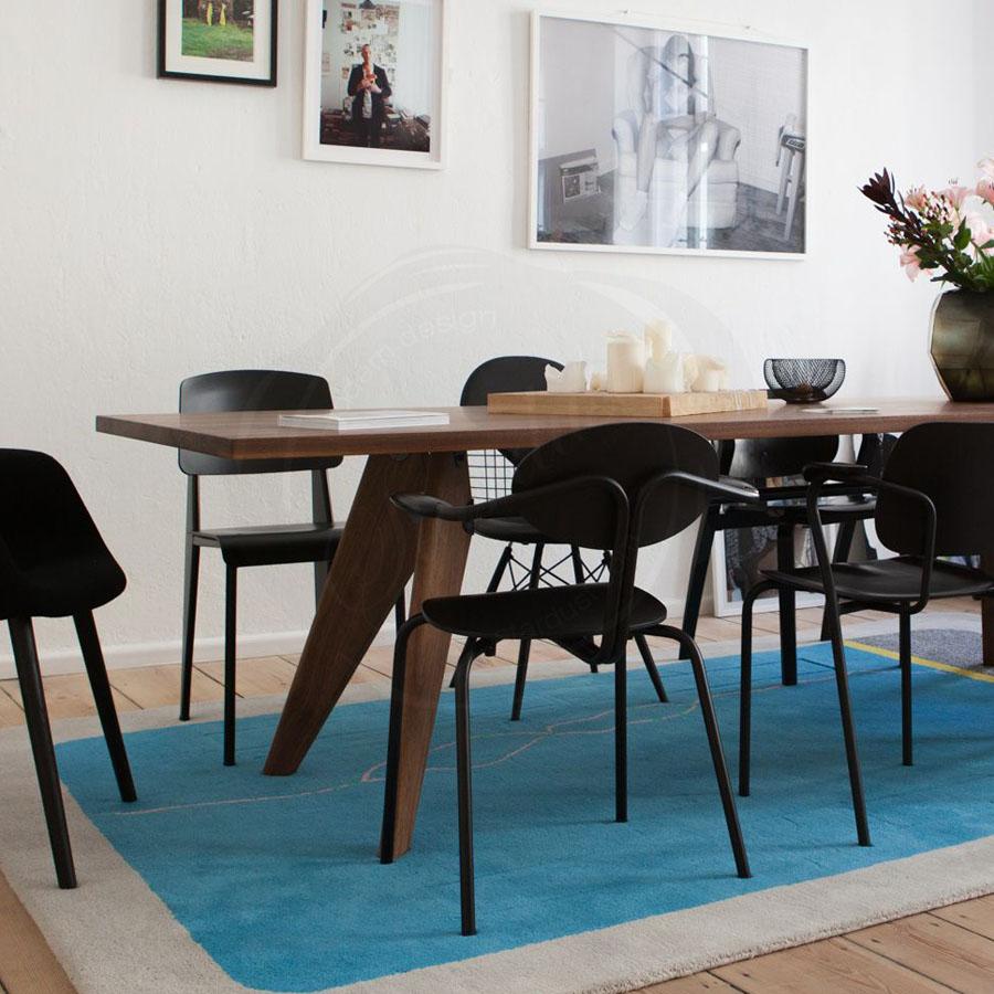 Solvay Rectangular Wooden Dining Table Oak Vitra