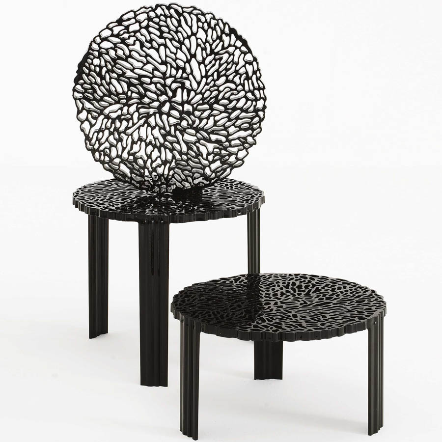 Modern black side table - Log In