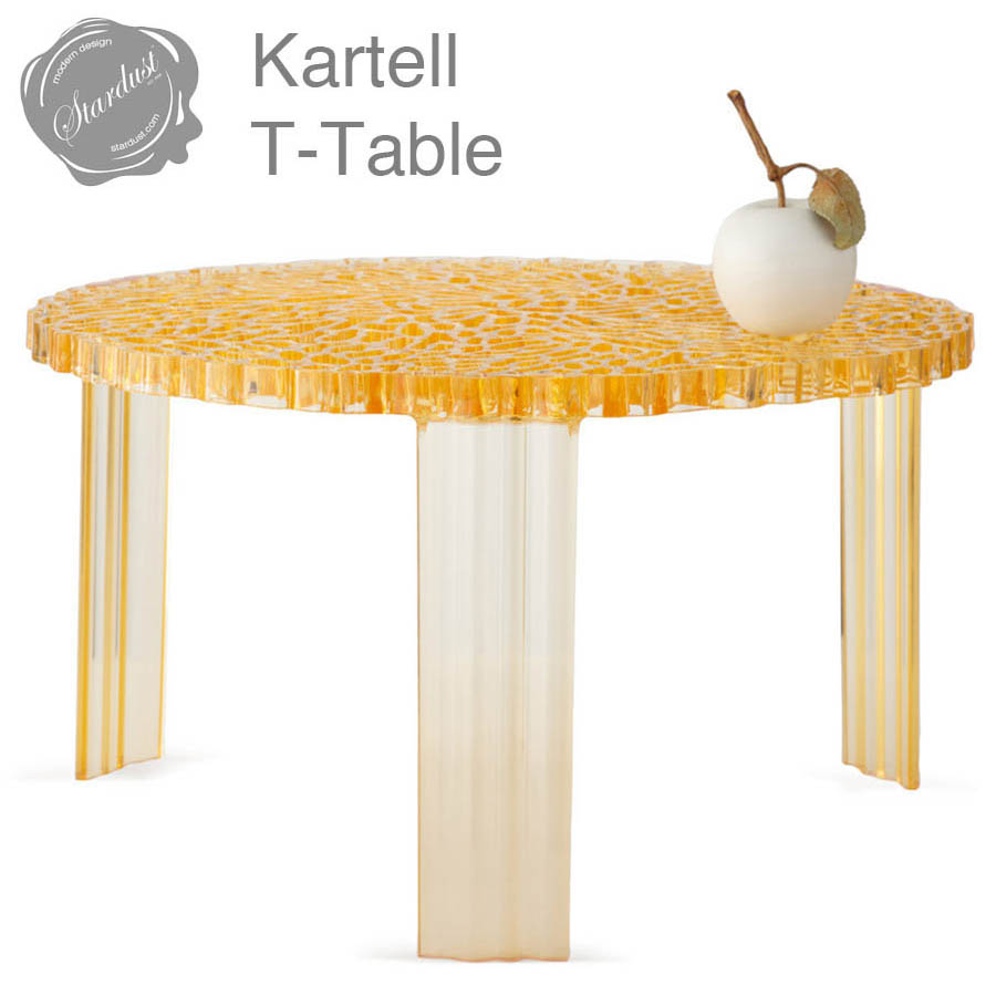 Kartell T Table Modern Round Coffee End By Patricia Urquiola