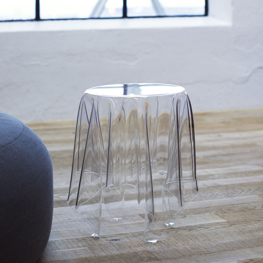 Modern Transparent End Table: Illusion Side Table