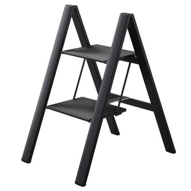 Fantastic Folding Ultraslim Aluminum 2 Step Ladder Stool 300 Load Capacity Beatyapartments Chair Design Images Beatyapartmentscom