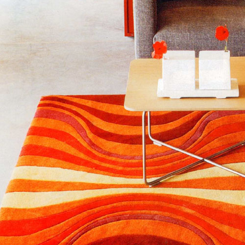 Verner Panton Onion Iii Carpet In Orange Red Stardust