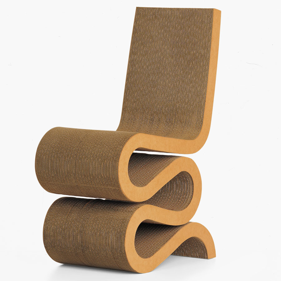 vitra wiggle side chair by frank gehry cardboard furniture for sale