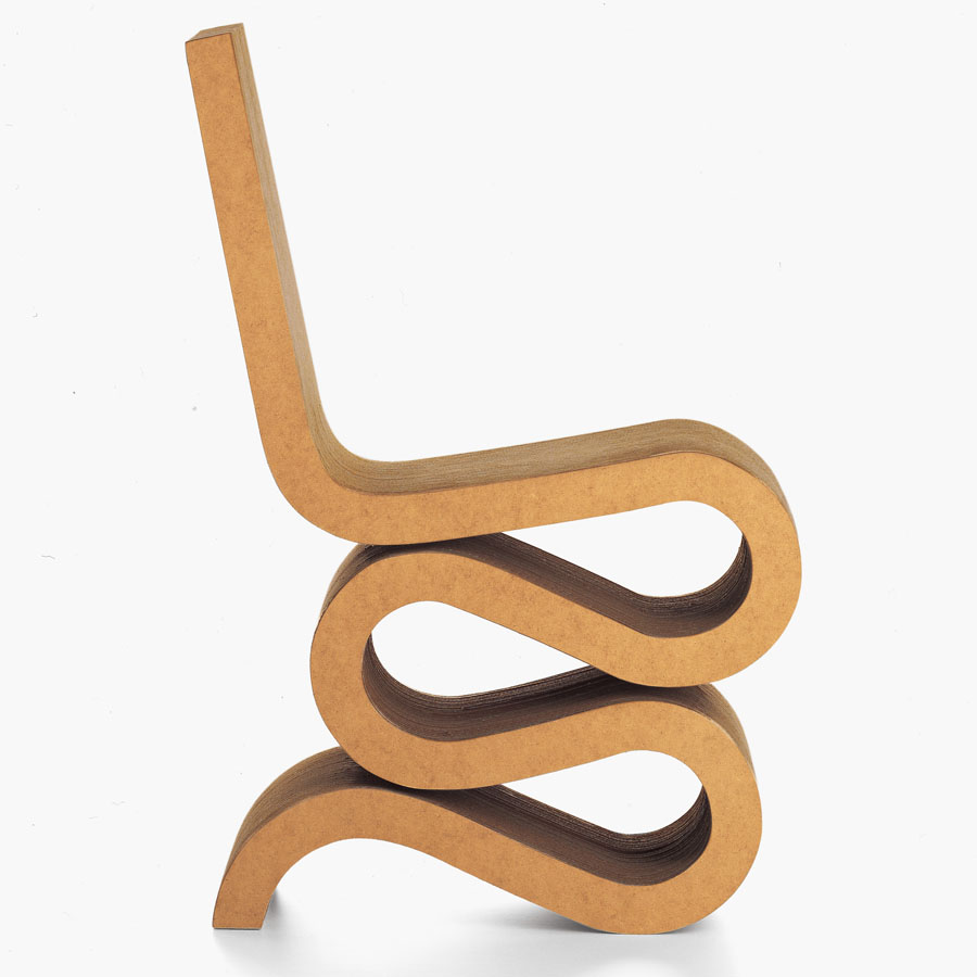 frank gehry cardboard furniture wiggle chair