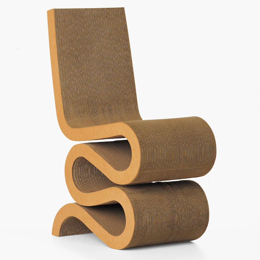 Side Chair wiggle frank gehry s wiggle chair masterpiece cardboard chair