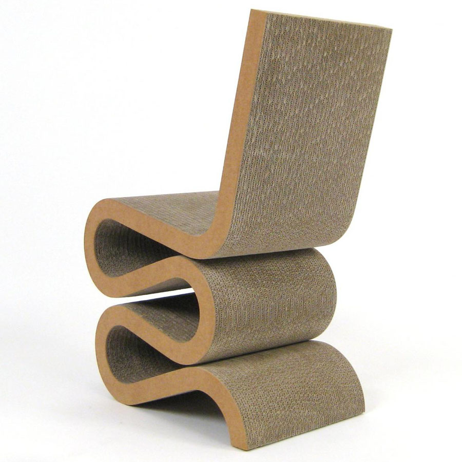 Comfortable cardboard chair designs - Vitra Wiggle Side Chair By Frank Gehry