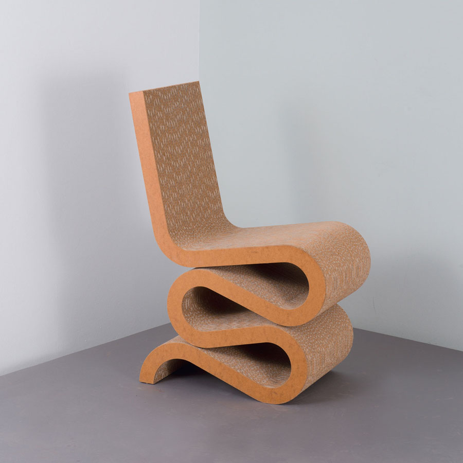 Frank Gehry Chaise Carton vitra wiggle side chairfrank gehry