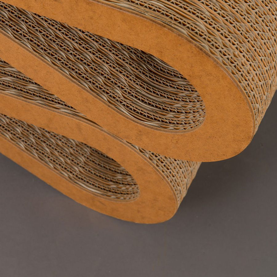 corrugated cardboard chair vitra wiggle side chair by frank gehry