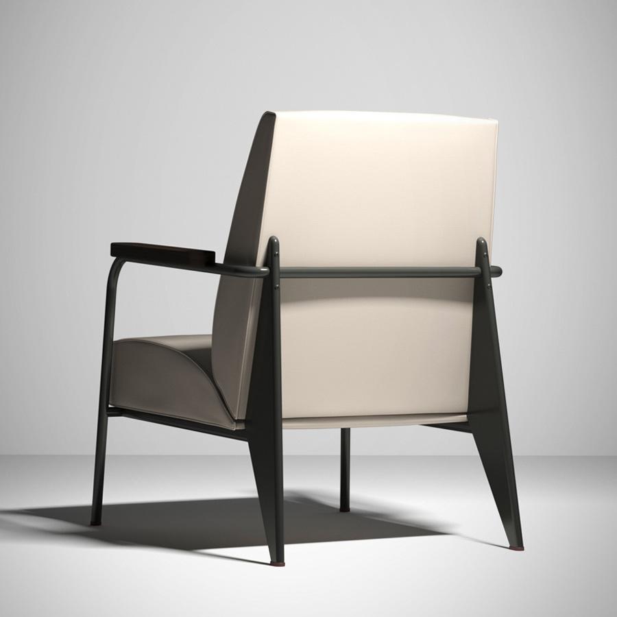 Vitra Fauteuil De Salon Chair By Jean Prouve