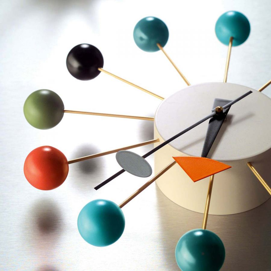 vitra multicoloured ball clock by george nelson w multiball  - vitra multicoloured ball clock by george nelson