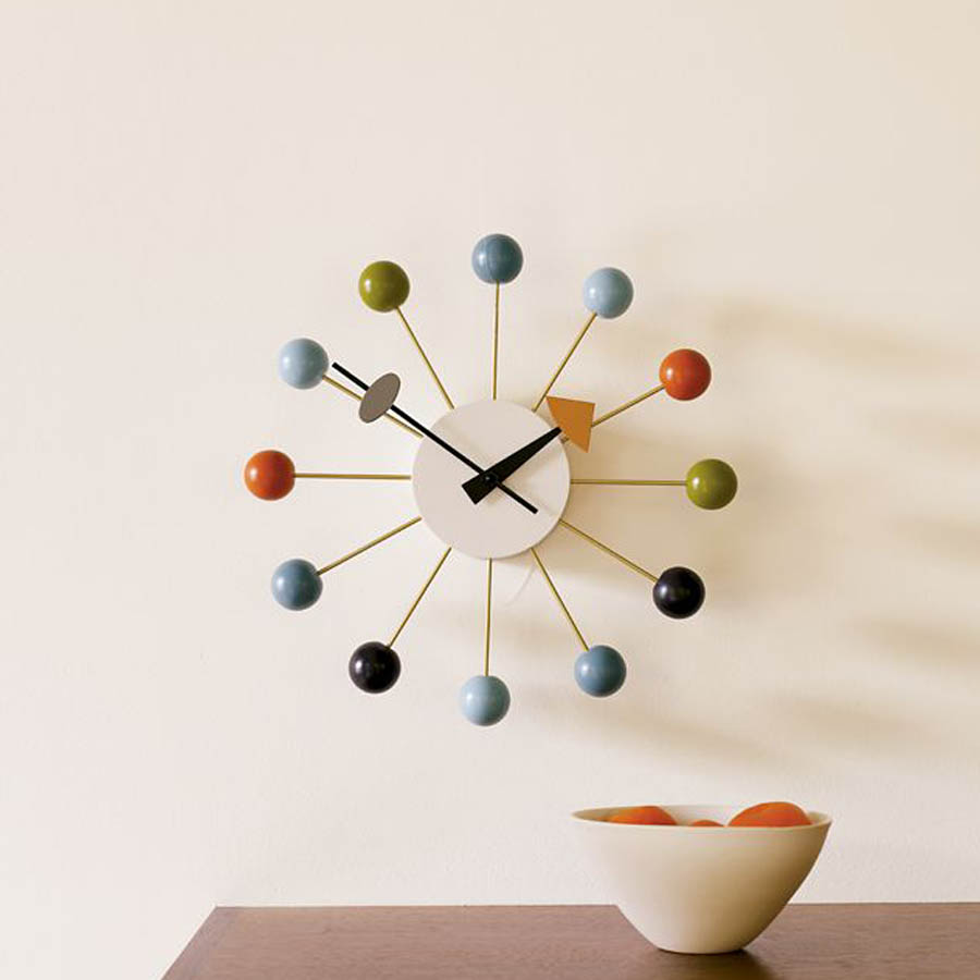 nelson ball clock george nelson ball clock in orange hivemoderncom george nelson ball clock. Black Bedroom Furniture Sets. Home Design Ideas