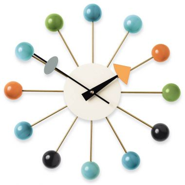vitra multi coloured ball clock by george nelson w. Black Bedroom Furniture Sets. Home Design Ideas