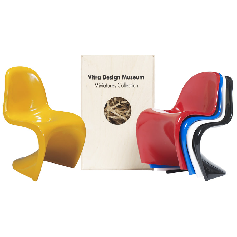Vitra miniatures panton open box floor sample sale stardust - Who designed the panton chair ...
