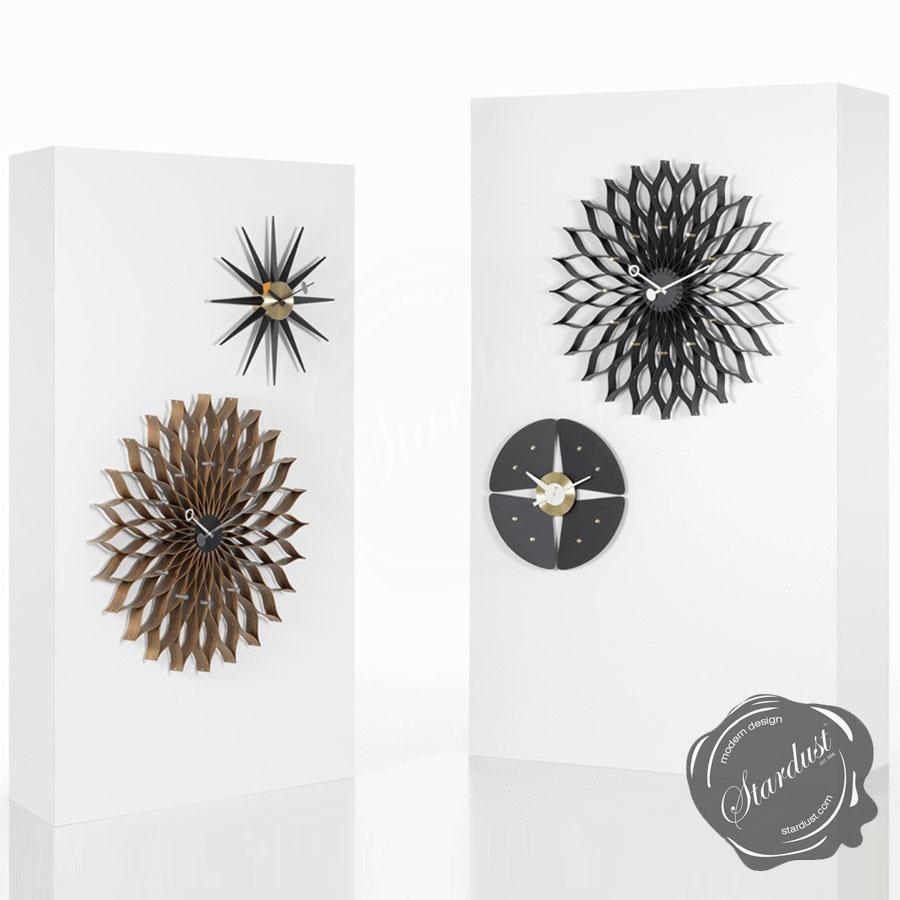 stardustcom  large midcentury modern george nelson sunflower  - vitra nelson sunflower wall clock