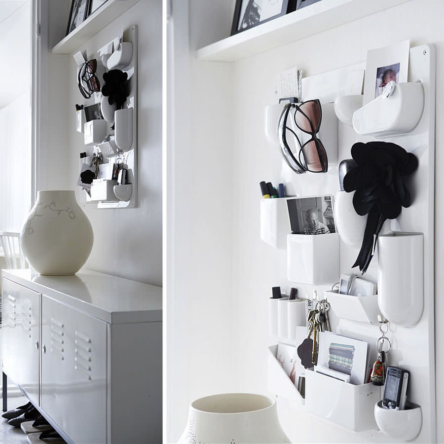utensilo efficient rectangular desk tidy wall organiser white. Black Bedroom Furniture Sets. Home Design Ideas