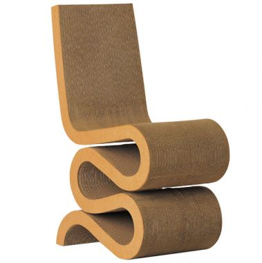 wiggle frank gehry 39 s wiggle chair masterpiece cardboard chair. Black Bedroom Furniture Sets. Home Design Ideas