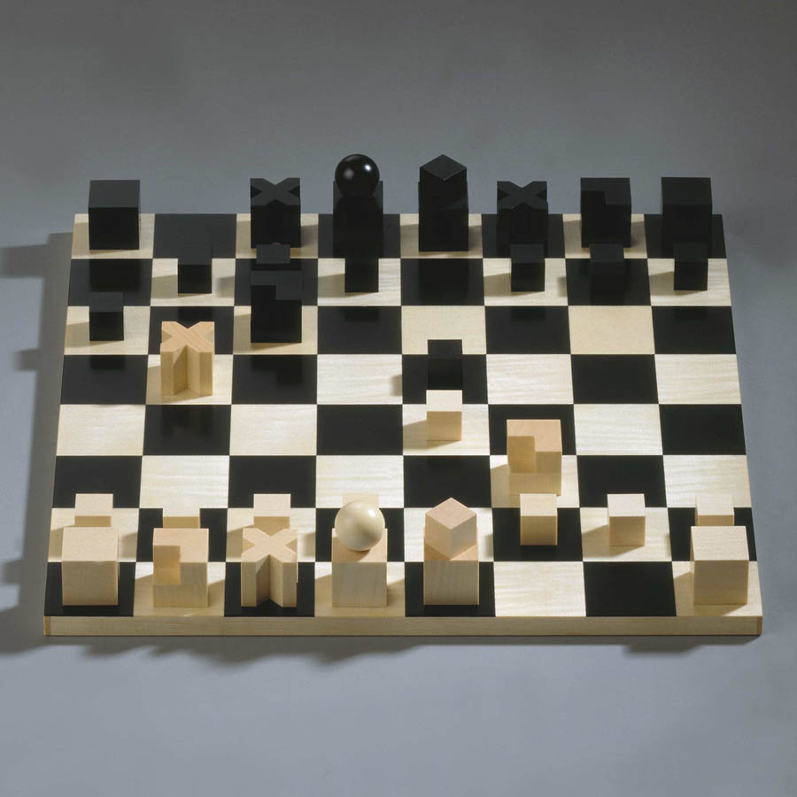Contemporary Chess Set Naef Bauhaus Solid Wood 32Piece Chess Set Quality Chess Gift Set