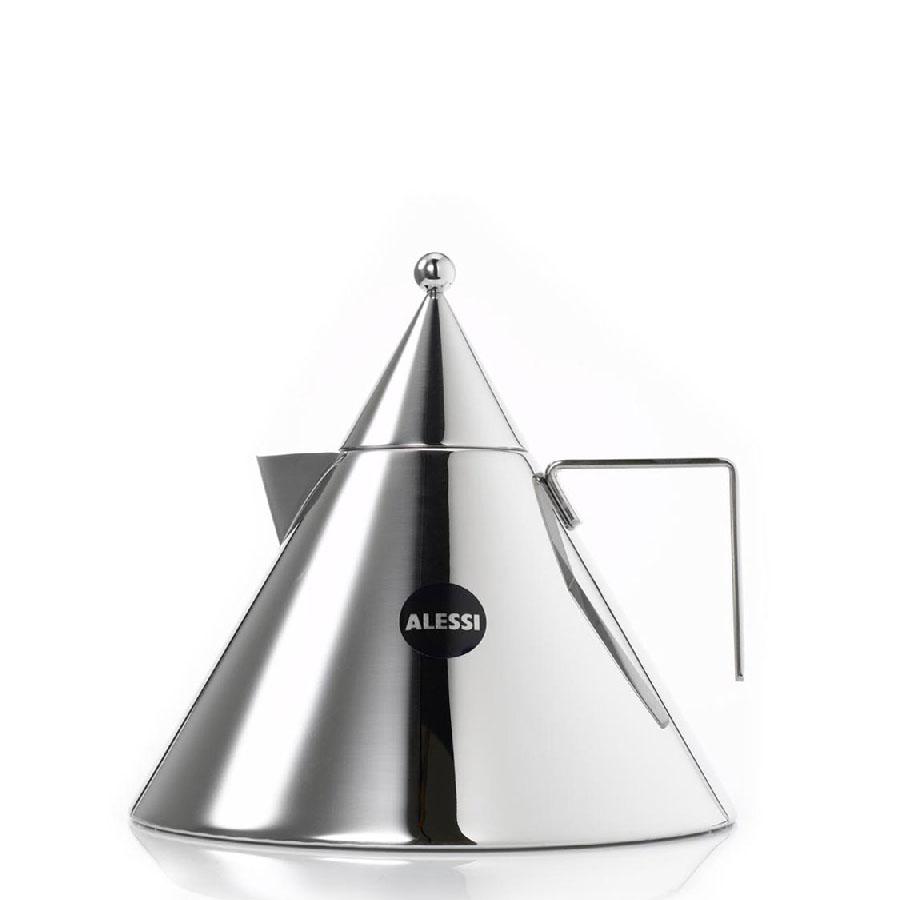 alessi  il conico stovetop waterboiling tea kettle in qt  - alessi il conico tea kettle