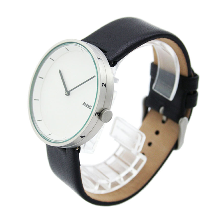 alessi al outtime leather men's designer watch by andrea  - alessi