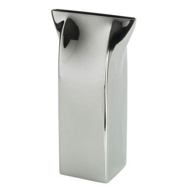Alessi Pinch Milk Carton Vase Stainless Steel Stardust