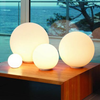 Dioscuri table lamp stardust dioscuri modern round italian glass table lamp white artemide aloadofball Image collections