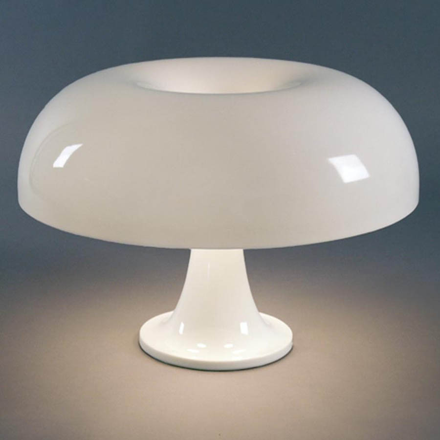 nessino small table lamp by artemide whiteorange  stardust - log in