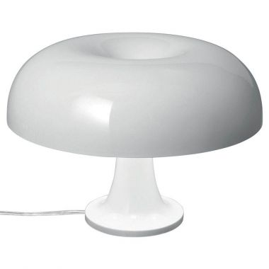 Nessino Small Table Lamp By Artemide, White/Orange ...