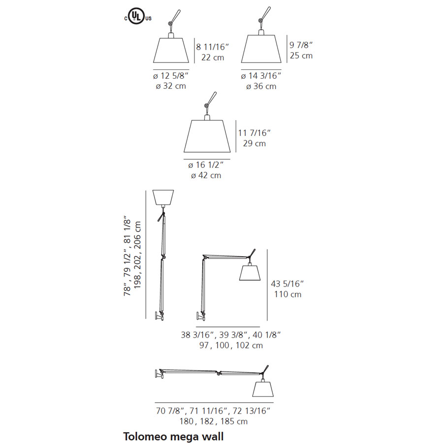 Tolomeo Mega Wall Lamp By Artemide Lighting Stardust Sconce Wiring Diagram
