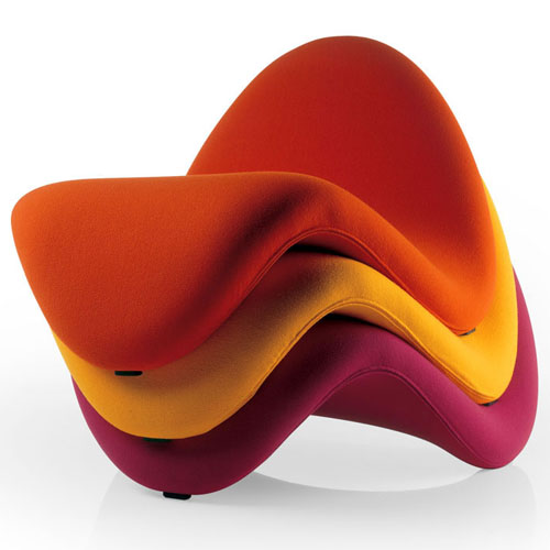 Artifort Tongue Chaise Lounge Chair By Pierre Paulin
