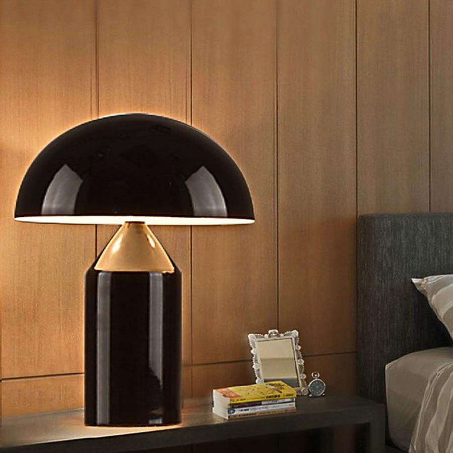 Atollo® Black Metal Table Lamp By Vico Magistretti For Oluce