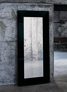 Glas Italia Aura Modern Wall Or Standing Mirror By Ricardo