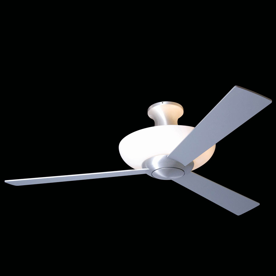 AURORA Hugger ceiling fan alumunium THE MODERN FAN PANY