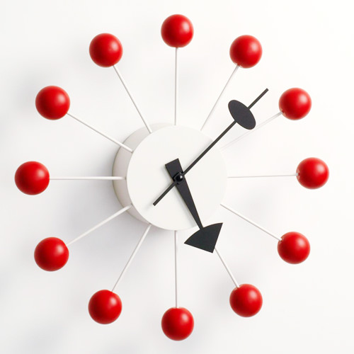 vitra nelson ball clock red by george nelson stardust. Black Bedroom Furniture Sets. Home Design Ideas