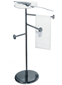 Alessi Birillo Towel Rack Stand For Bathroom With Shelf Birillo
