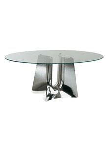 Cerruti Baleri Bentz Modern Oval Dining Table Stardust