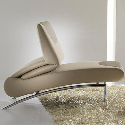 Bonaldo Berlin Modern Chaise Lounge Chair by Stefan Hiliger