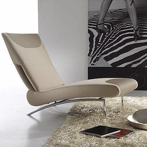 Bonaldo Berlin Modern Chaise Lounge Chair By Stefan