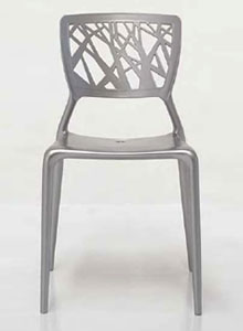 Bonaldo Viento Chair Perforated Modern Dining and Office Chair  . Silver Office Chair. Home Design Ideas