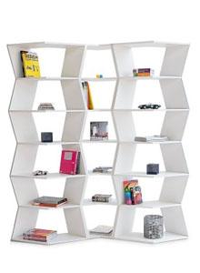 Zig Zag Modern Bookcase Storage Shelving By Aziz Sariyer
