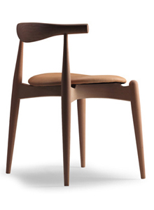 Hans Wegner Ch20 Elbow Chair In Ash Oiled With Tan Leather