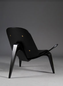 CH07 Lounge Chair   Black (Sample Sale) ...
