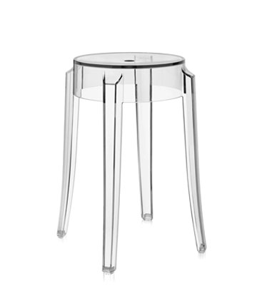 Charles Ghost® Modern Bar Stool By Kartell   Clear Acrylic ...