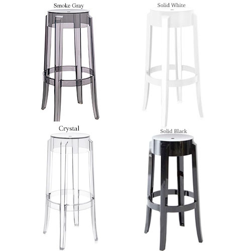 Kartell Charles Ghost Bar Stool By Philippe Starck